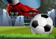 SOCCERBALL AND SOCCER SHOE