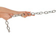 a long heavy metal chain