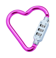 Heart shaped carabiner
