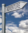 adventure road sign