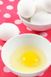 Fresh Eggs on a Colorful Background
