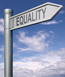 equality road sign with clipping path
