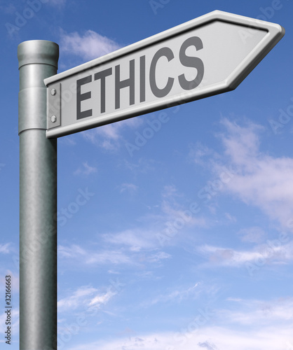 ethics road sign arrow