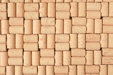 Background of new corks lined