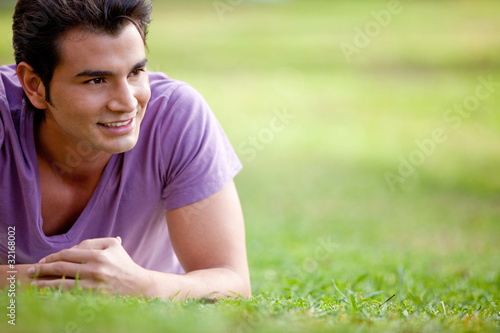 Man lying outdoors