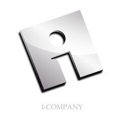 Logo initial letter I 3d # Vector