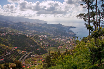 view to bay with funchal on madeira island, portugal