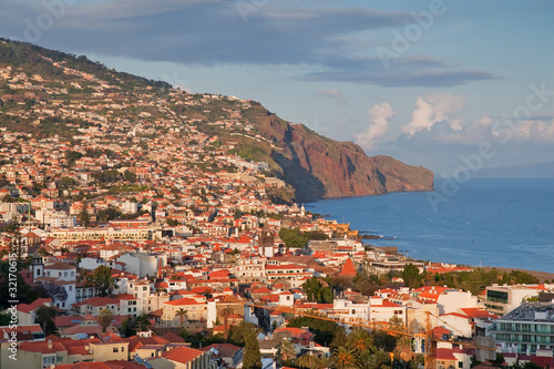 capital city funchal on madeira island, portugal