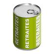 Boite de conserve - Retraites - Vert