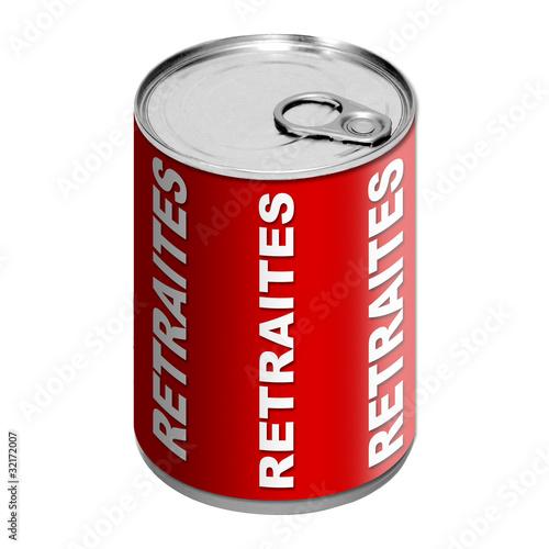 Boite de conserve - Retraites - rouge