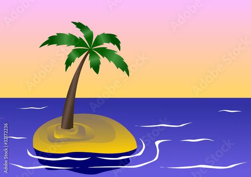 insel mit palme stockfotos und lizenzfreie vektoren auf bild 32172236. Black Bedroom Furniture Sets. Home Design Ideas
