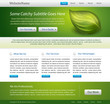 green web site design template - vector, editable