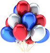 Party balloons Independence day colored. USA national decoration