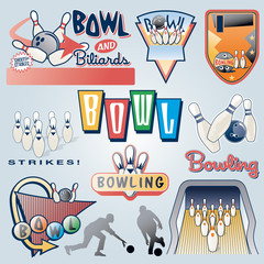 bowling badges and elements