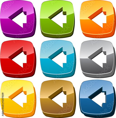 Left icon button set