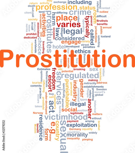 Prostitution background concept