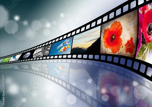 Film su sfondo astratto