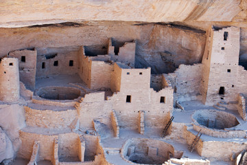 Cliff Palace ruins in Mesa Verde National park, Colorado