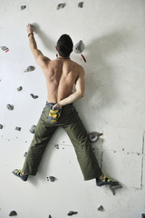 man exercise sport climbing