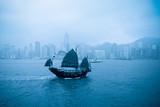 old boat in Hong Kong