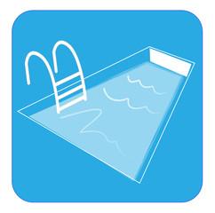 Pictogramme piscine bleu