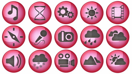 loop icon set with alpha