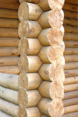 Log home wall detail