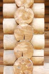 Log home wall detail