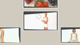 Montage of different scenes illustrating healthy lifestyles