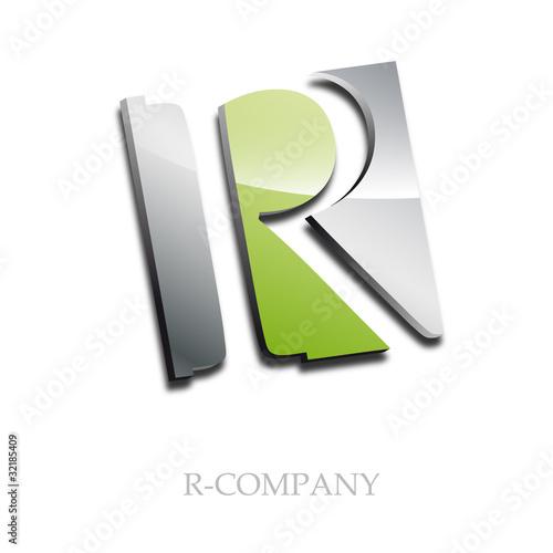 e Letter Logo 3d Logo Initial Letter r 3d