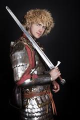 Warrior is posing