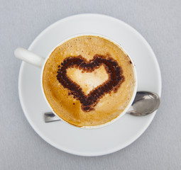 italian coffecup with heart