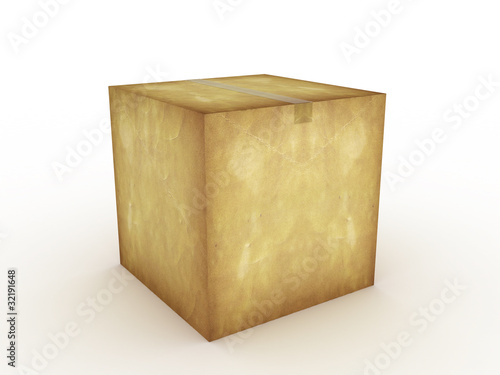 Paper box on a white background №2