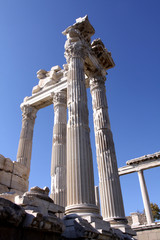 Trajan Temple in Pergamon. Turkey