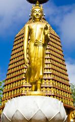 Buddha in Wat Laem Yang Nakhon Sawan. In Thailand