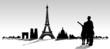 Paris Skyline mit Pärchen