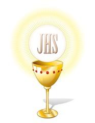 Religione Calice e Ostia-Religion Chalice Cup and Host-2-Vector