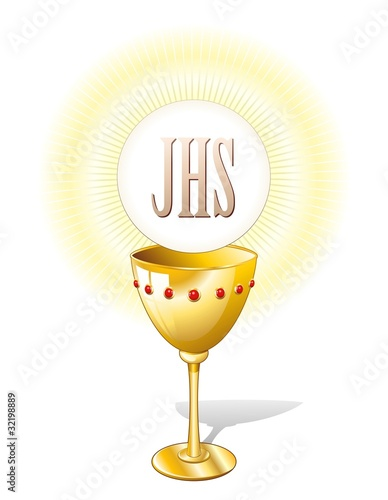 Religione Calice e Ostia-Religion Chalice Cup and Host-2-Vector