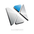 Logo initial letter X 3d # Vector