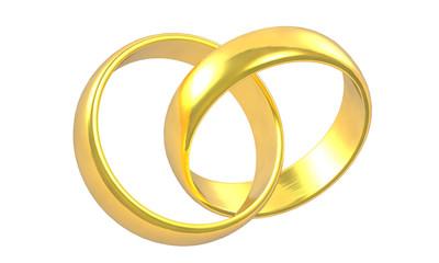 2 goldene Ringe