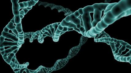 DNA Strand flight through