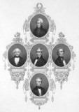 American presidents from 1829 to 1849 poster
