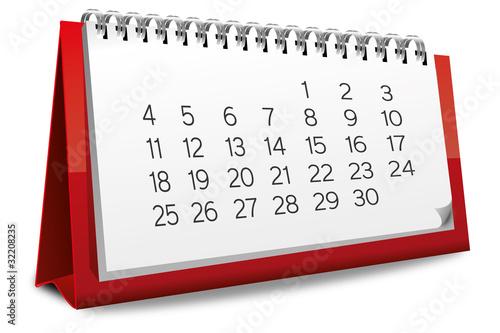 Kalender rot Monat zahlen Ziffern - 32208235