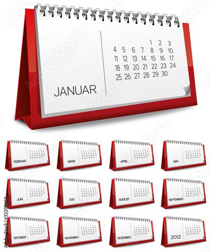 Kalender rot Monat zahlen Ziffern set