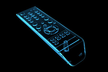 TV remote (3D xray blue transparent)