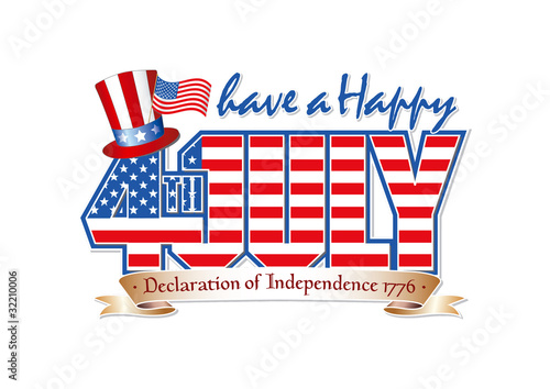 Have a Happy 4th July editable vector graphic