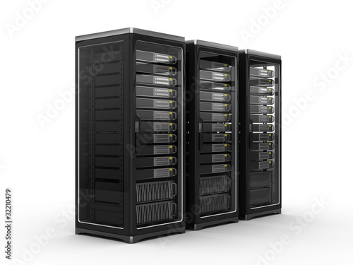 Leinwandbild Motiv Computer servers