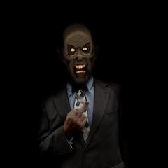 Zombie businessman with attitude