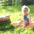 Child in summer park