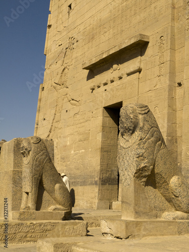 Temple to Isis, Horus and Osiris on Philae Island in Egypt